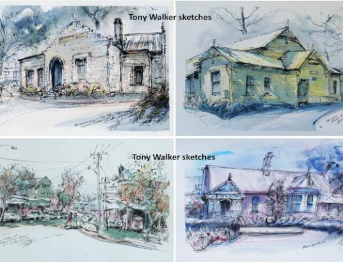 Sketches of local historical places